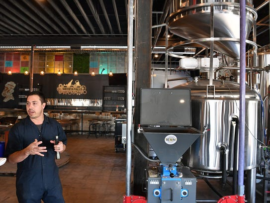 Matt Bitsche of Wichita Falls Brewing Company explains
