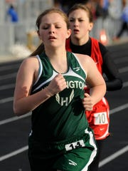 Huntington's Brittany Moore competes in the 1600-meter