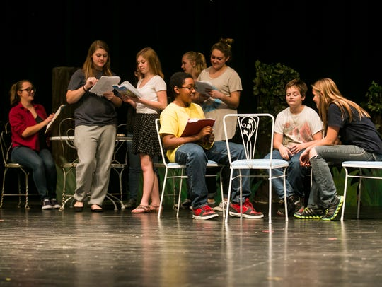 Spring Grove Area High School students rehearse a scene