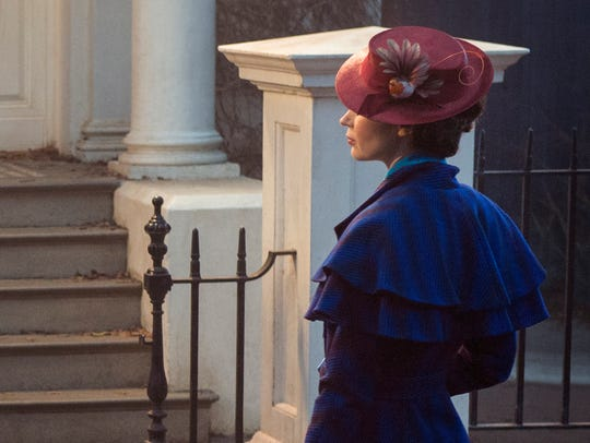 Mary Poppins (Emily Blunt) is back in 'Mary Poppins