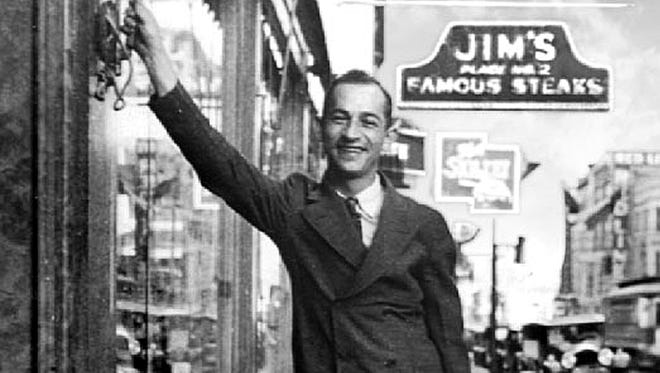Bill Taras, one of the original owners of Jim's Place and the family's patriarch is pictured at the restaurant's 154 Union Avenue location in December 1945. The restaurant began in 1921 in the basement of the William Len Hotel before opening the Union location in 1927.