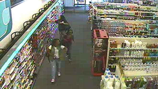 A security photo showing three women, who were accused of robbing a CVS Pharmacy on May 25 on Oddie Boulevard.