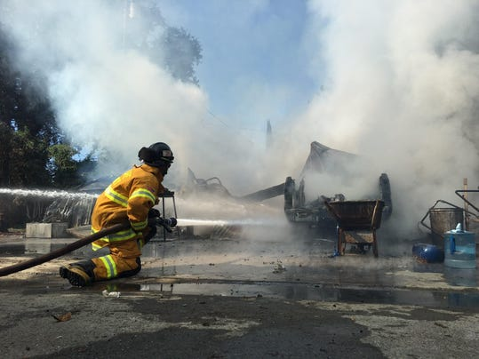 Tulare Fire photo, Oct. 19, 2015