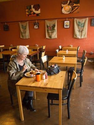 Customer Stacy Tompkins of Wayne ordered the Good Morning Bowl at Karma Coffee & Kitchen.