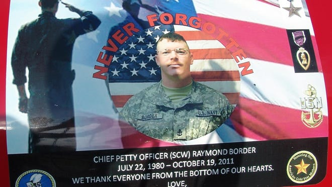 U.S. Navy Chief Petty Officer Raymond Border is memorialized on the Phantom 309 Ray Border Memorial Race Car.