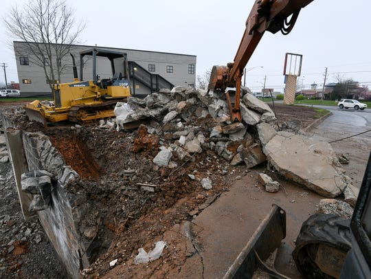 The Barr House building is no longer with only rubble