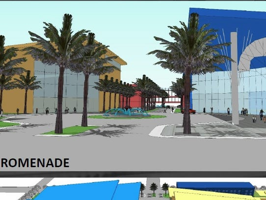 Preliminary designs show what the new arena and field