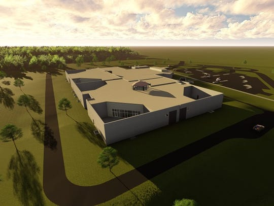A rendering of the new Cumberland County Jail planned