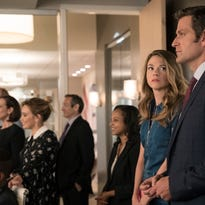 Sutton Foster (second from right) in season three  of 'Younger' on TV Land, which starts Sept. 28, 2016,