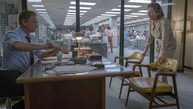 "Tom Hanks as Ben Bradlee and Meryl Streep as Katharine Graham in ""The Post."""