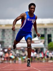 Reading's Donnek Patterson competes in the finals of