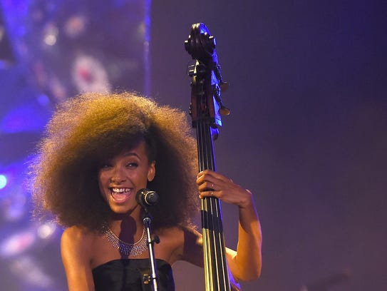 Esperanza Spalding performs at the Tiffany & Co. Blue