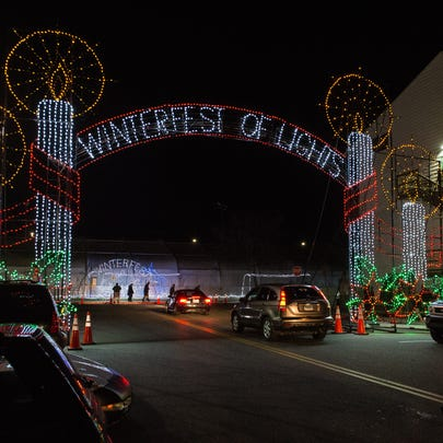 A view of a lighting display during Ocean City's Winterfest
