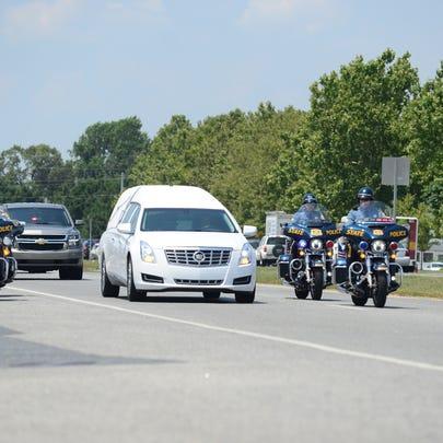 Delaware State Trooper Master Cpl. William Matt's funeral