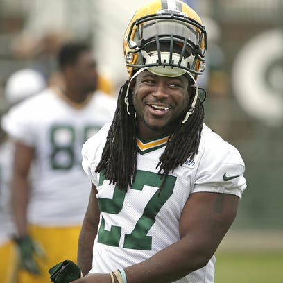 Green Bay Packers running back Eddie Lacy (27) during