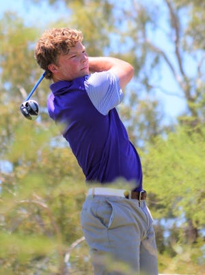 Northwest Christian golfer Frankie Capan won the Div. III state title after shooting a 59 on Wednesday, May 9, 2018 at Omni at Omni Tucson National.