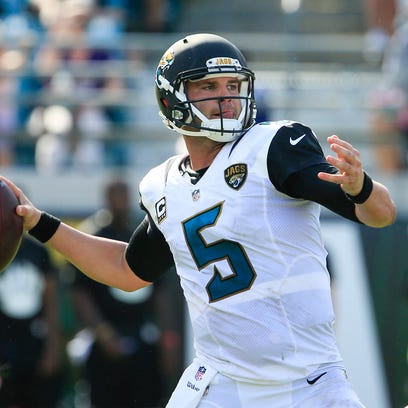 Jaguars quarterback Blake Bortles threw for only 194 yards and was intercepted three times in Week 3 vs. Baltimore.