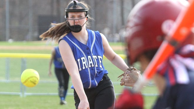 Pearl River's Emily Turilli struck out nine Monday en route to a perfect game against visiting Eastchester.