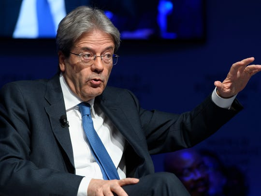Italian Prime Minister Paolo Gentiloni speaks during