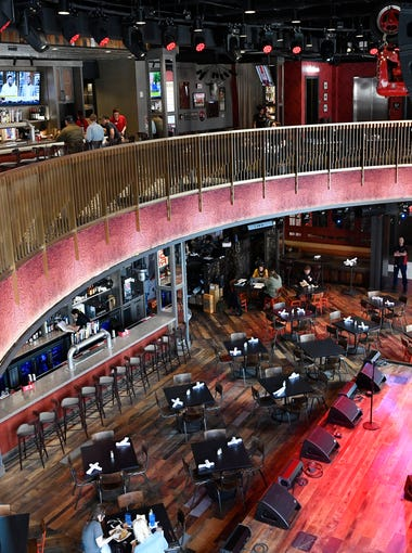 Ole Red Honky Tonk at the corner of Third and Broadway has a state of the art sound system, stage area, and 4 levels including a rooftop bar and is  Ryman's newest business ventureFriday April 27, 2018, in Nashville, Tenn.