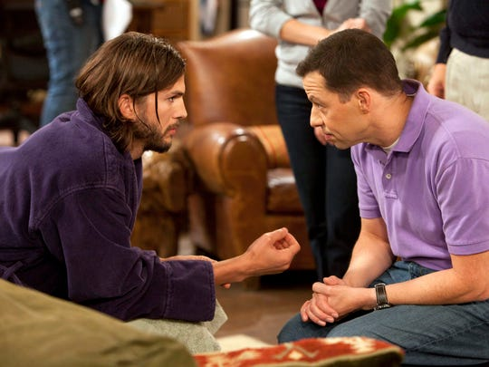 """Walden Schmidt (Ashton Kutcher) and Alan Harper (Jon Cryer) are the current main characters on CBS's """"Two and a Half Men."""""""