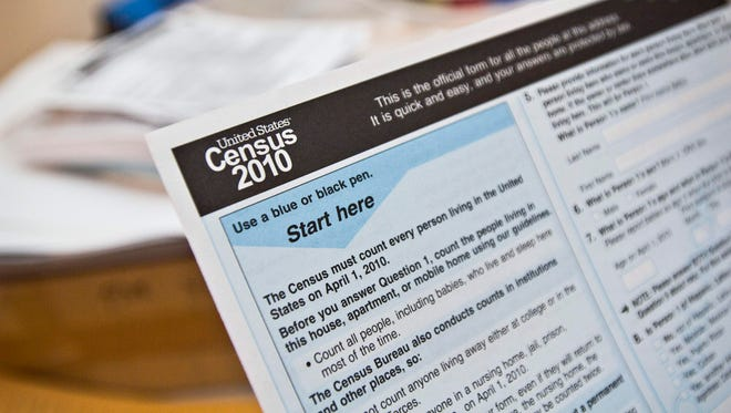 A 2010 Census form