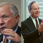U.S. Senators Jeff Sessions (left) and Richard Shelby (right)