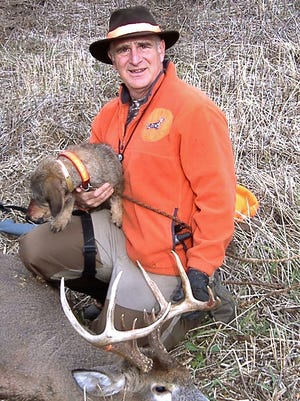 Tom DiPietro of Jericho, a licensed tracker along with his wife Christine, helped hunters track wounded deer with their wirehaired dachshunds free of charge. Both died in their home from carbon monoxide poisoning.