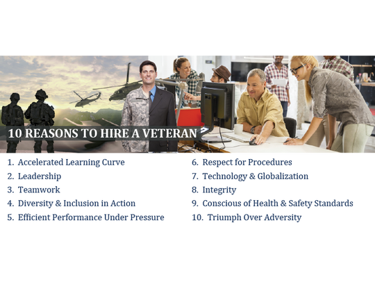 10 Reasons to hire a veteran