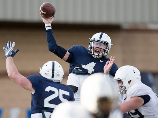 """Tommy Stevens is expected to play the hybrid """"Lions"""" position in 2018 and then become Penn State's quarterback in 2019. AP FILE PHOTO"""