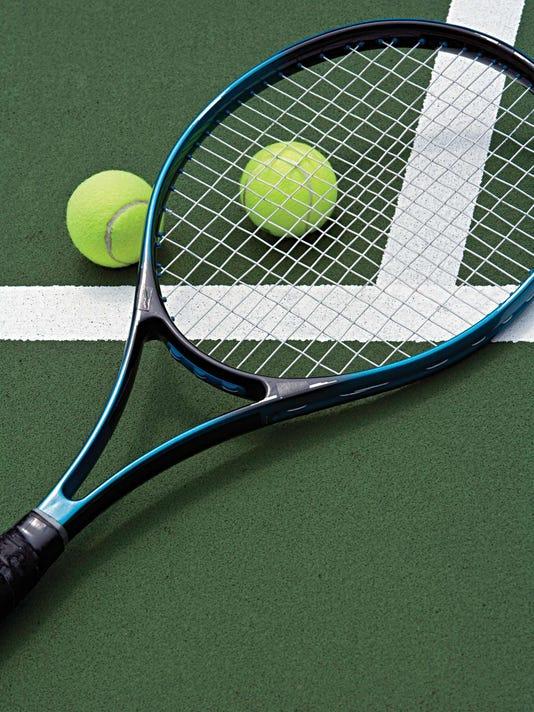 racket and tennis balls