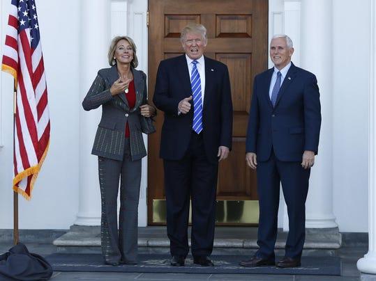 Donald Trump,Mike Pence,Betsy DeVos
