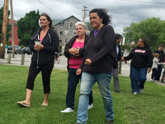 Members of the family of homicide victim Amos Beede
