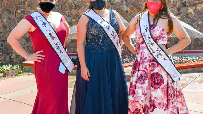 Left to right, Ms. Colorado Lifetime Queen Amanda Baros, Miss Pueblo County 2020 Breanna Pittman and Lifetime Community Service Queen Paige Flores represent the winners and participants in this year's Miss Pueblo County Scholarship Pageant.