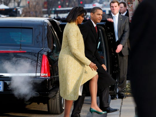 The Obamas arrive at St. John's Episcopal Church on