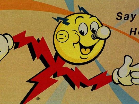Reddy Kilowatt is shown Friday, Sept. 25, 1998, on a billboard in downtown Minneapolis.