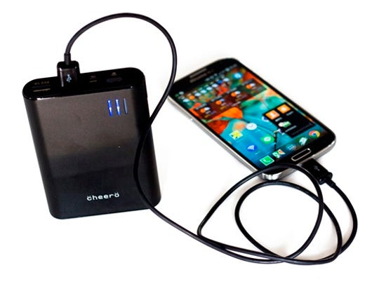 Cellphone charges and USB power packs.