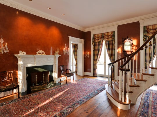 The entry foyer in the home of Paul Greenwood at 16 Wheeler Road in North Salem.
