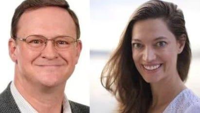 Ralph Trenary, left, and Rebecca Cranston