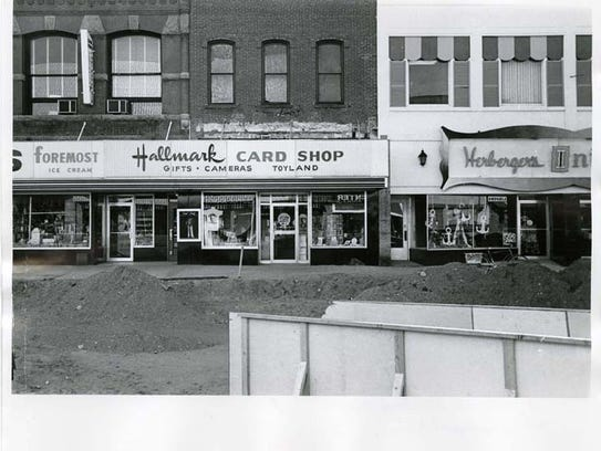 The Dan Marsh and Herberger's store buildings with