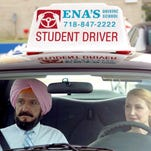 """Ben Kingley is a Sikh driving instructor and Patricia Clarkson his student in """"Learning to Drive."""""""