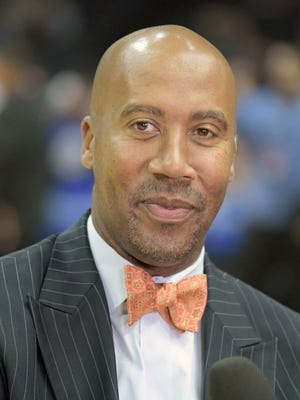 Bruce Bowen during an NBA game between the Los Angeles Clippers and the Utah Jazz.