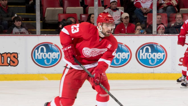 Detroit defenseman Brian Lashoff