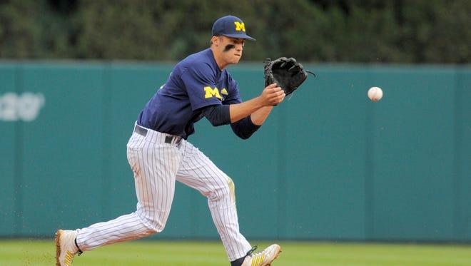 Michigan infielder Jake Bivens