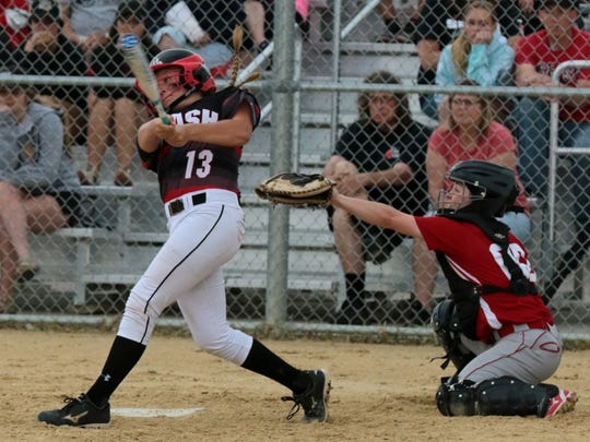SPASH's Aubrey Drohner unloads for a home run during