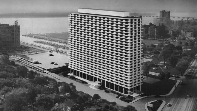 A rendering of the then-proposed Jefferson apartment building on East Jefferson along Detroit's Gold Coast.