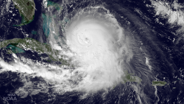 Category 4 Hurricane Joaquin spins in the Bahamas on Oct. 1, 2015.
