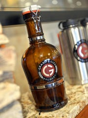 A growler from Granite City Food & Brewery in St. Cloud.