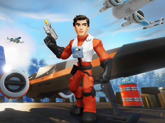 """Fly as Poe Dameron in his X-wing Starfighter in """"Disney"""