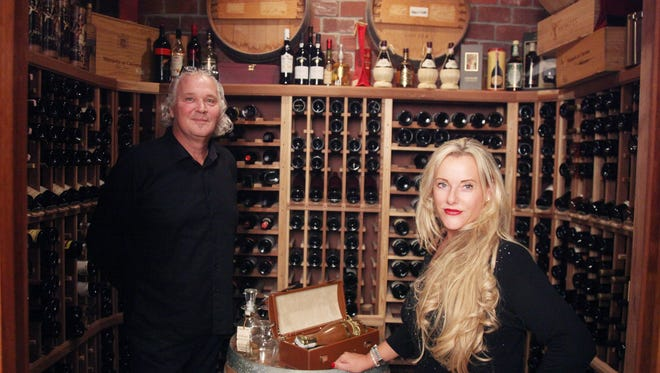 Karl and Katharina Sonders have a beautiful wine cellar in their North Fort Myers home.